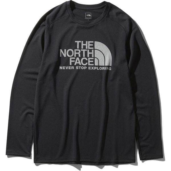 ロングスリーブGTDロゴクルー L/S GTD Logo Crew NT12093 (K)ブラック Lサイズ [アウトドア カットソー メンズ]