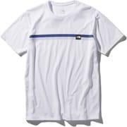 ショートスリーブボックスロゴラインティー S/S Box Logo Line Tee NT32086 (W)ホワイト Mサイズ [アウトドア カットソー メンズ]
