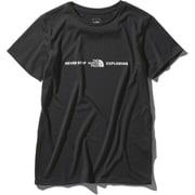 ショートスリーブエクスプロラトリーロゴティー S/S Exploratory Logo Tee NTW32083 (K)ブラック Mサイズ [アウトドア カットソー レディース]