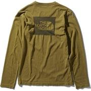 ロングスリーブスクエアロゴジャカードティー L/S Square Logo Jacquard Tee NT81907 (FE)ファーグリーン XLサイズ [アウトドア カットソー メンズ]