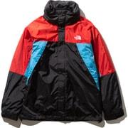 XXX トリクライメイトジャケット XXX Triclimate Jacket NP21730 (FR)ファイアリーレッド×メリディアンブルー×ブラック Sサイズ [アウトドア ジャケット メンズ]