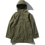コンパクトコート Compact Coat NPW21734 (BG)バーントオリーブ XLサイズ [アウトドア ジャケット レディース]