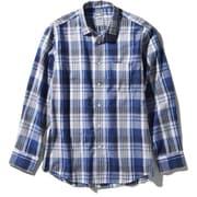 ロングスリーブ バハダネイチャーシャツ L/S Bajada Nature Shirt NR11957 (B)ブルー Sサイズ [アウトドア シャツ メンズ]
