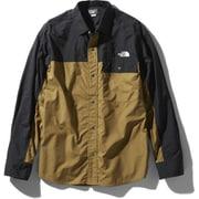 ロングスリーブヌプシシャツ L/S Nuptse Shirt NR11961 (BK)ブリティッシュカーキ Lサイズ [アウトドア シャツ ユニセックス]