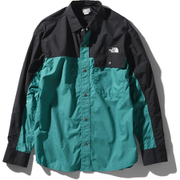 ロングスリーブヌプシシャツ L/S Nuptse Shirt NR11961 (FF)ファンファーレグリーン Mサイズ [アウトドア シャツ ユニセックス]