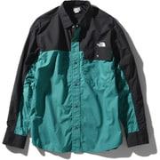 ロングスリーブヌプシシャツ L/S Nuptse Shirt NR11961 (FF)ファンファーレグリーン Lサイズ [アウトドア シャツ ユニセックス]