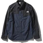 ロングスリーブヌプシシャツ L/S Nuptse Shirt NR11961 (UN)アーバンネイビー XLサイズ [アウトドア シャツ ユニセックス]