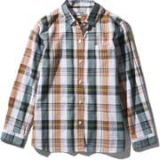 ロングスリーブ バハダネイチャーシャツ L/S Bajada Nature Shirt NRW11957 (G)グリーン Mサイズ [アウトドア シャツ レディース]