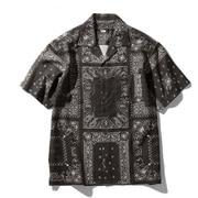 ショートスリーブクライミングサマーシャツ S/S Climbing Summer Shirt NR21931 (RB)バンダナリニューアルブラック Lサイズ [アウトドア シャツ メンズ]