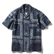 ショートスリーブクライミングサマーシャツ S/S Climbing Summer Shirt NR21931 (RL)バンダナリニューアルブルー Lサイズ [アウトドア シャツ メンズ]