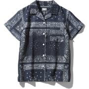ショートスリーブクライミングサマーシャツ S/S Climbing Summer Shirt NRW21931 (RL)バンダナリニューアルブルー Sサイズ [アウトドア シャツ レディース]