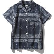 ショートスリーブクライミングサマーシャツ S/S Climbing Summer Shirt NRW21931 (RL)バンダナリニューアルブルー Lサイズ [アウトドア シャツ レディース]