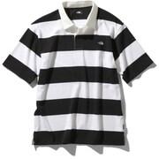 ショートスリーブラグビーポロ S/S Rugby Polo (WK)ホワイト×ブラック XLサイズ [アウトドア カットソー メンズ]