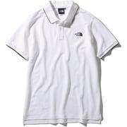 ショートスリーブマキシフレッシュラインドポロ S/S MAXIFRESH Lined Polo NT22043 (W)ホワイト XLサイズ [アウトドア カットソー メンズ]
