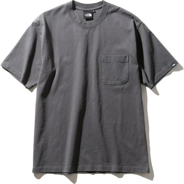 ショートスリーブヘビーコットンティー S/S Heavy Cotton Tee NT32009 (AG)アスファルトグレー Lサイズ [アウトドア カットソー メンズ]
