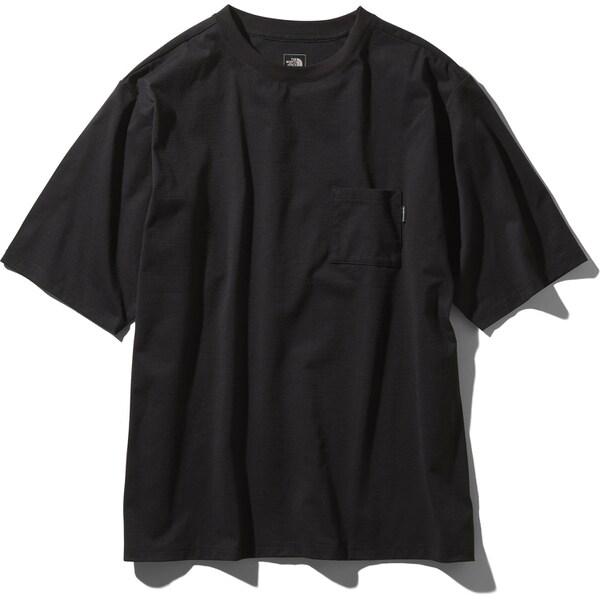 ショートスリーブエアリーポケットティー S/S Airy Pocket Tee NT11968 (K)ブラック Lサイズ [アウトドア カットソー メンズ]