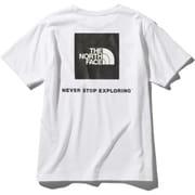ショートスリーブスクエアーロゴティー S/S Square Logo Tee NT32038 (W)ホワイト Lサイズ [アウトドア カットソー メンズ]