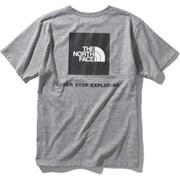 ショートスリーブスクエアーロゴティー S/S Square Logo Tee NT32038 (Z)ミックスグレー XLサイズ [アウトドア カットソー メンズ]