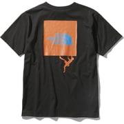 ショートスリーブクライミングスクエアロゴティー S/S Climbing Square Logo Tee (K)ブラック XLサイズ [アウトドア カットソー メンズ]