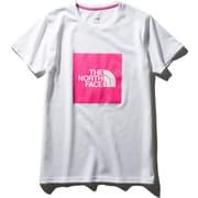 ショートスリーブビッグスクエアロゴティー S/S Big Square Logo Tee NTW32036 (MP)ミスターピンク Lサイズ [アウトドア カットソー レディース]