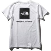 ショートスリーブスクエアーロゴティー S/S Square Logo Tee NTW32038 (W)ホワイト Lサイズ [アウトドア カットソー レディース]