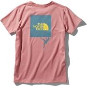 ショートスリーブクライミングスクエアロゴティー S/S Climbing Square Logo Tee NTW32058 (MG)モーブグロー Lサイズ [アウトドア カットソー レディース]
