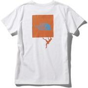 ショートスリーブクライミングスクエアロゴティー S/S Climbing Square Logo Tee NTW32058 (W)ホワイト Lサイズ [アウトドア カットソー レディース]