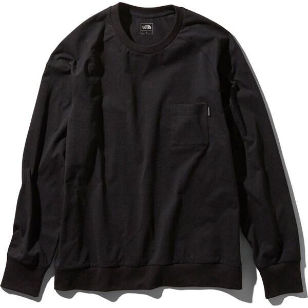 ロングスリーブエアリーリラックスティー L/S Airy Relax Tee NT11967 (K)ブラック Mサイズ [アウトドア カットソー メンズ]