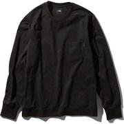 ロングスリーブエアリーリラックスティー L/S Airy Relax Tee NT11967 (K)ブラック XLサイズ [アウトドア カットソー メンズ]