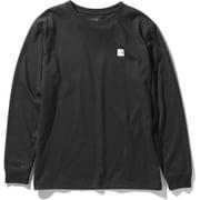 ロングスリーブスモールボックスロゴティー L/S Small Box Logo Tee NT32041 (K)ブラック XLサイズ [アウトドア カットソー メンズ]