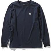 ロングスリーブスモールボックスロゴティー L/S Small Box Logo Tee NT32041 (UN)アーバンネイビー Lサイズ [アウトドア カットソー メンズ]