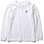 ロングスリーブスモールボックスロゴティー L/S Small Box Logo Tee NT32041 (W)ホワイト XLサイズ [アウトドア カットソー メンズ]