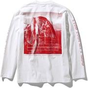 ロングスリーブグラフィックティー L/S Sleeve Graphic Tee NT32042 (W)ホワイト XLサイズ [アウトドア カットソー メンズ]