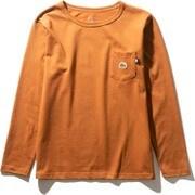 ロングスリーブステッチマークティ L/S Stitch Mark Tee NT32051 (CL)キャラメルカフェ XLサイズ [アウトドア カットソー メンズ]