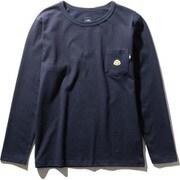 ロングスリーブステッチマークティ L/S Stitch Mark Tee NT32051 (UN)アーバンネイビー XLサイズ [アウトドア カットソー メンズ]