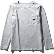 ロングスリーブステッチマークティ L/S Stitch Mark Tee NT32051 (Z)ミックスグレー Lサイズ [アウトドア カットソー メンズ]