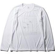 ロングスリーブハーフドームティー L/S Half Dome Tee NTW32044 (W)ホワイト Lサイズ [アウトドア カットソー レディース]