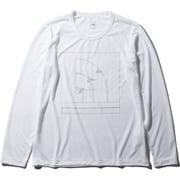 ロングスリーブハーフドームティー L/S Half Dome Tee NTW32044 (W)ホワイト XLサイズ [アウトドア カットソー レディース]