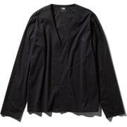 テックラウンジカーディガン Tech Lounge Cardigan NT11961 (K)ブラック Lサイズ [アウトドア カットソー メンズ]