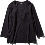テックラウンジカーディガン Tech Lounge Cardigan NTW11961 ブラック(K) Lサイズ [アウトドア カットソー レディース]
