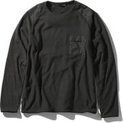 バーサマイクロスウェット VERSA MICRO SWEAT NL22061 (K)ブラック Lサイズ [アウトドア カットソー メンズ]