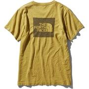 ショートスリーブスクエアロゴジャカードティー S/S Square Logo Jacquard Tee NTW12008 バンブーイエロー(BA) Mサイズ [アウトドア カットソー レディース]