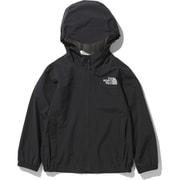 ドリズルワンダージャケット Drizzle Wonder Jacket NPJ12001 (K)ブラック 110サイズ [アウトドア ジャケット キッズ]