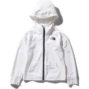 ロングスリーブサンシェードフルジップフーディ L/S Sunshade Full Zip Hoodie NTJ12041 ホワイト(W) 150サイズ [アウトドア トップス キッズ]