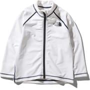 ロングスリーブサンシェードフルジップジャケット L/S Sunshade Full Zip Jacket NTJ12042 ホワイト(W) 140サイズ [アウトドア トップス キッズ]