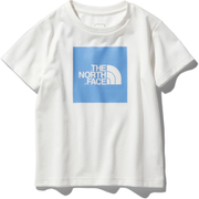ショートスリーブカラードビッグロゴティー S/S Colored Big Logo Tee NTJ32026 (WC)ホワイト×クリアレイクブルー 120サイズ [アウトドア トップス キッズ]