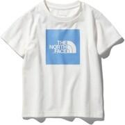 ショートスリーブカラードビッグロゴティー S/S Colored Big Logo Tee NTJ32026 (WC)ホワイト×クリアレイクブルー 140サイズ [アウトドア トップス キッズ]