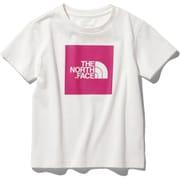 ショートスリーブカラードビッグロゴティー S/S Colored Big Logo Tee NTJ32026 (WP)ホワイト×ミスターピンク 100サイズ [アウトドア トップス キッズ]