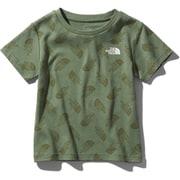 ショートスリーブスムースコットンロゴティー S/S Smooth Cotton Logo Tee NTJ32034 (LO)トスロゴオリーブ 150サイズ [アウトドア トップス キッズ]