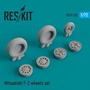 RSK72-0222 三菱 F-2 ホイールセット [1/72スケール ディティールアップパーツ]